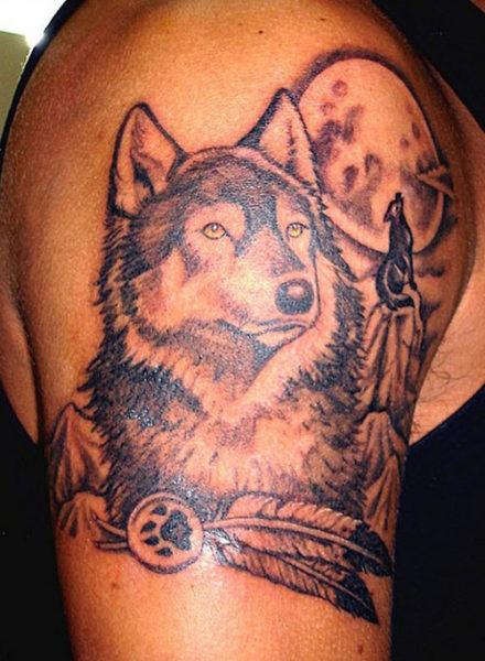 Artistic Wolf Tattoo