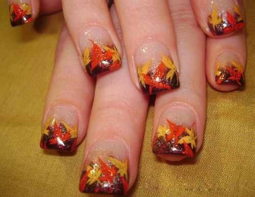 Autumn Leaves Nail Art - 9 Easy Thanksgiving Nail Art Designs With Images Style At Life