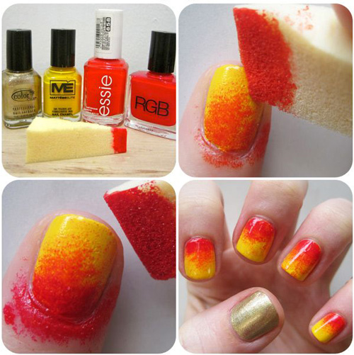 7 best sponge nail art designs styles at life simple sponge nail design first prinsesfo Images