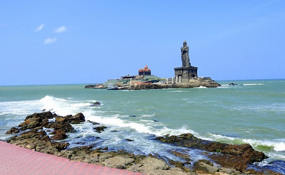 Beaches in Tamil Nadu-Kanyakumari Beach