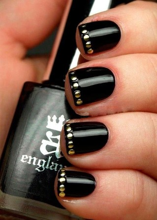 Black Magic Nail Paint Design