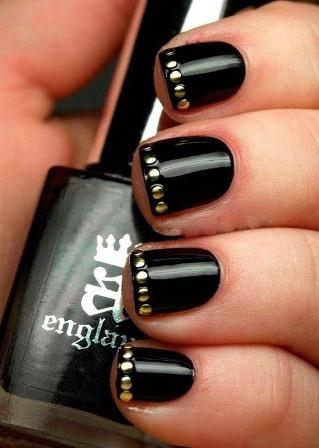 Black Magic Nail Paint Design