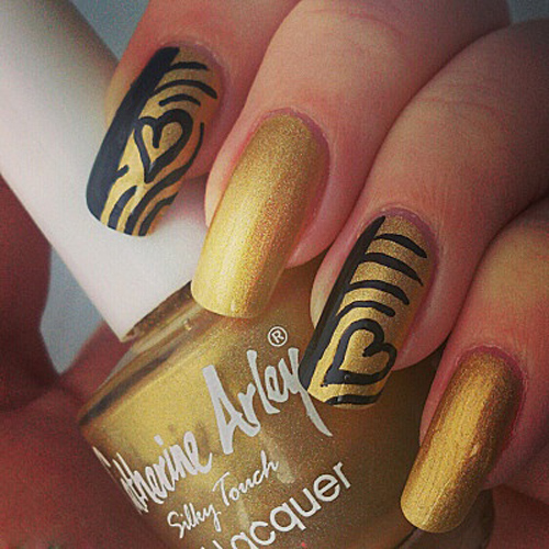 6 Best Gold Nail Art Designs Styles At Life