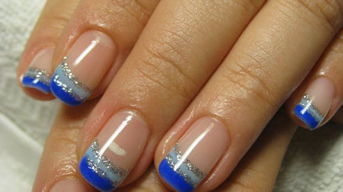 Blue Gel Nail Design