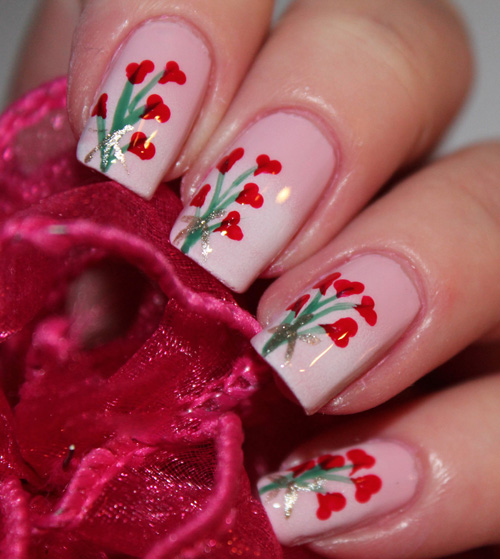 Bouquet Nail Art