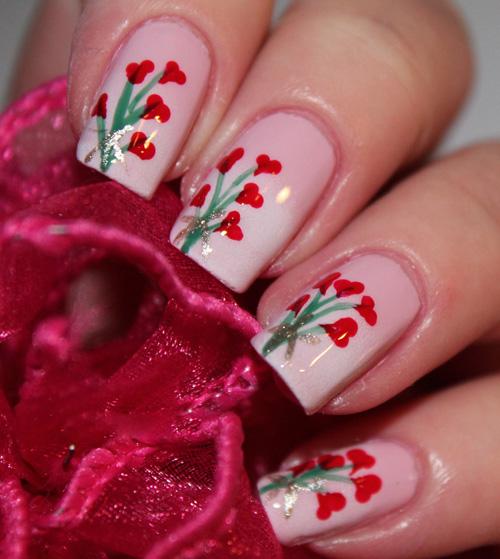 Bouquet Nail Art