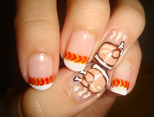 Cooked Turkey Nail Design