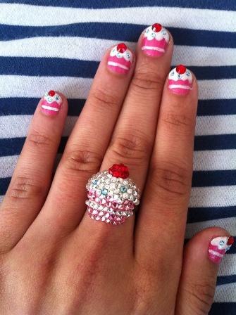 Cupcake Nail Art Design : 9 Beautiful Cupcake Nail Art Designs with Pictures ...