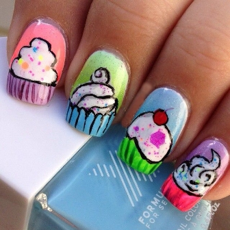 9 beautiful cupcake nail art designs with pictures styles at life try out a cup cakes and ice creams nail art prinsesfo Gallery