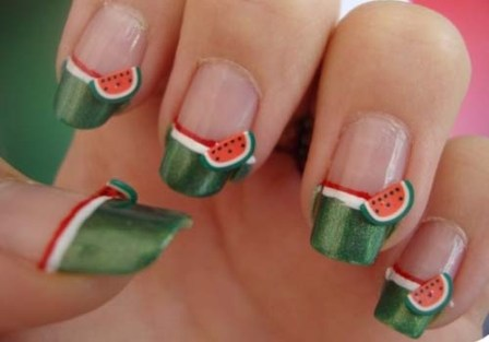 9 best watermelon nail art designs styles at life women prinsesfo Gallery