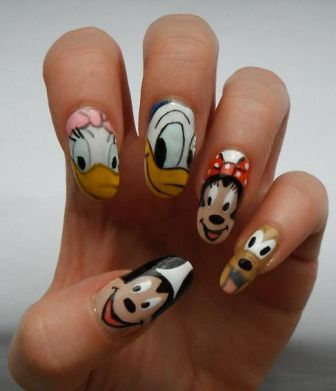 9 Simple Disney Nail Art Designs Styles At Life