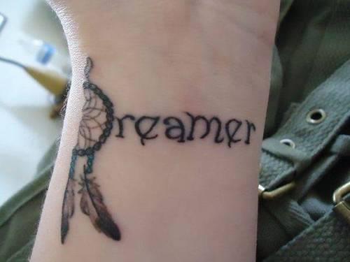 Dreamer Wrist Tattoo
