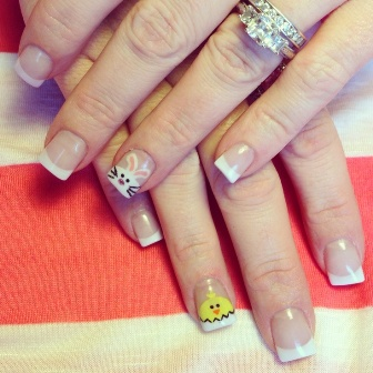 9 simple easter nail art designs with pictures styles at life french prinsesfo Gallery