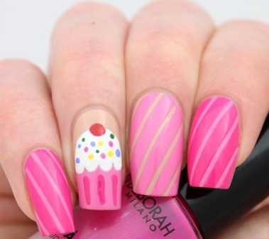 9 Beautiful Cupcake Nail Art Designs With Pictures Styles At Life