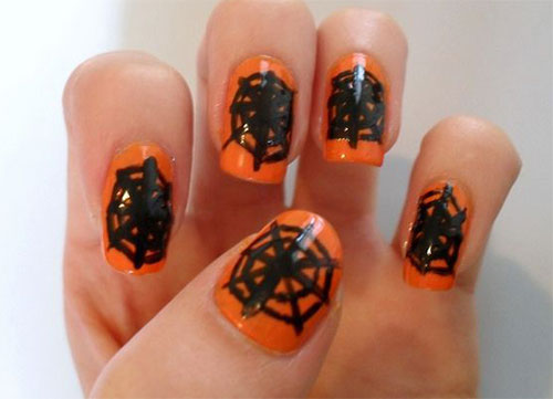 6 best spider web nail art designs styles at life easy stick on web nail art prinsesfo Images