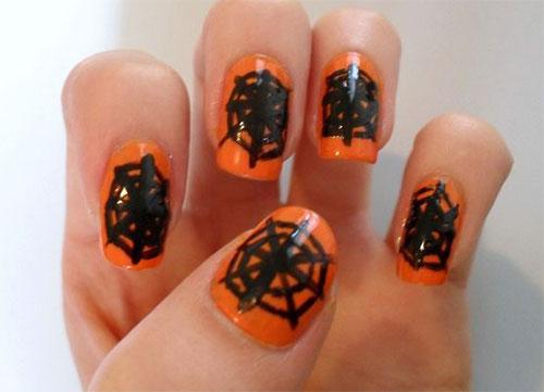 Easy Stick-on Web Nail Art