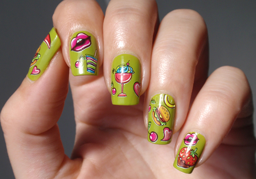 Edible Delights Green Nail Art