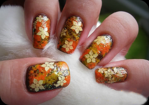 Fall inspired Nail Art