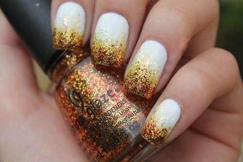 Falling Leaves Nail Art