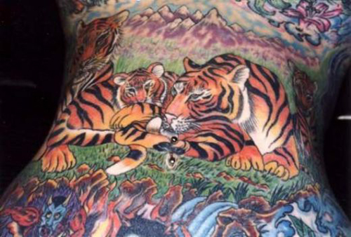 Family Tiger Tattoo