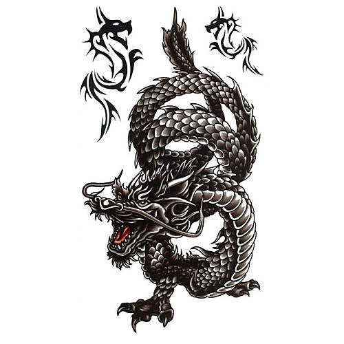 Ferocious Dragon Tattoo Sticker