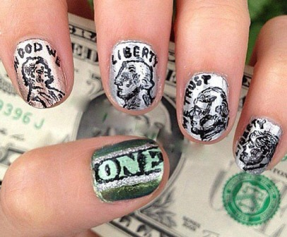 dollar nail art
