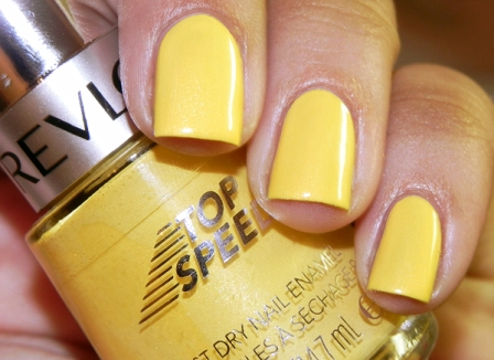 Yellow Nail Paint Design