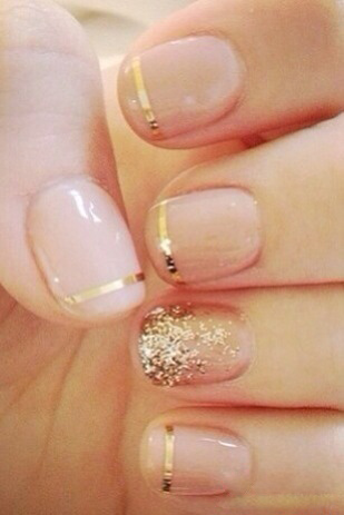 6 best gold nail art designs styles at life paint prinsesfo Choice Image