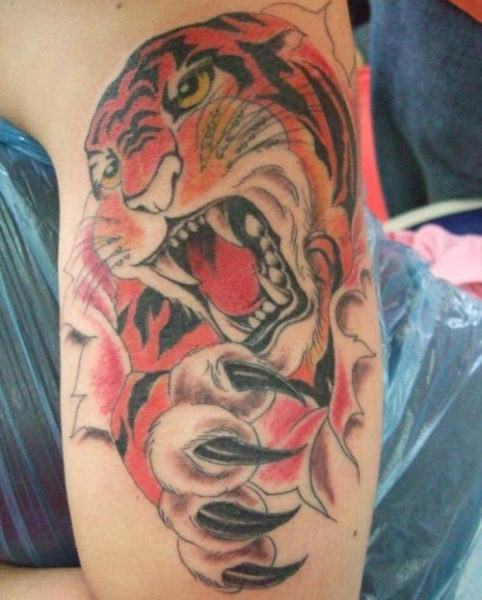 Growling Tiger Tattoo