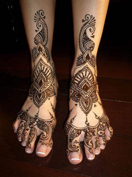 Mehndi Leg Designs : Cute gujarati mehndi designs with pictures styles at