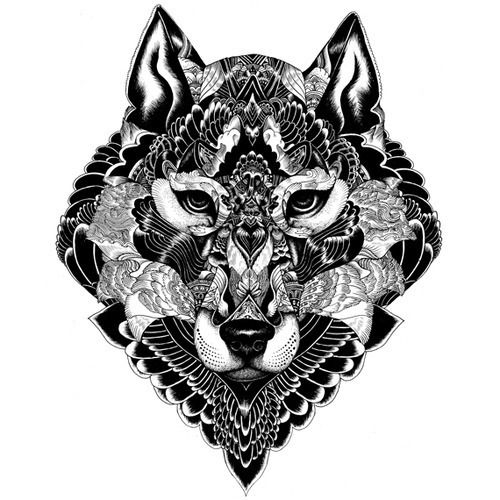 In design wolf Tattoo