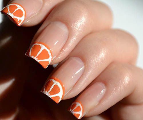Orange Fruit Nail Art