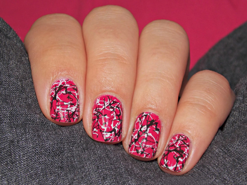 Nail Design With Pink And White : Best graffiti nail art designs styles at life