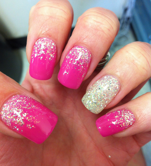 Pics Photos  Gel Nails Pink Nail Art Gallery By Nails Magazine