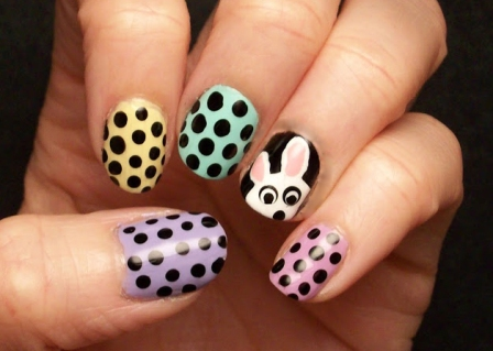 Try out an easy ... - 9 Simple Easter Nail Art Designs With Pictures Styles At Life