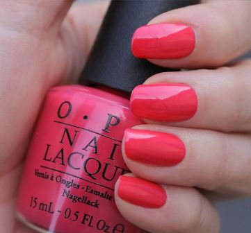 Pink Nail Paint Design With Shades