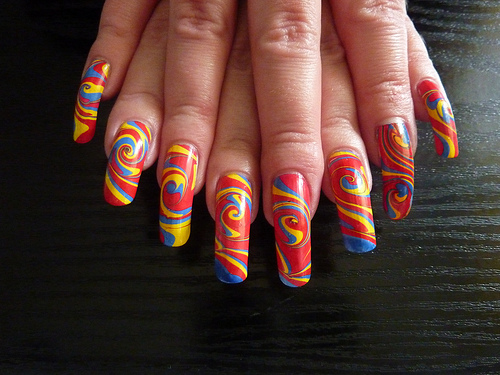 9 Pictures Of Easy Water Marble Nail Art Designs Styles At Life