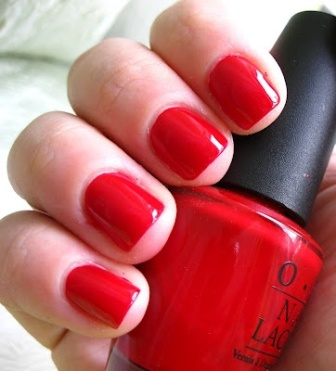 Red Nail Paint Design
