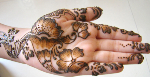 shaded mehndi designs
