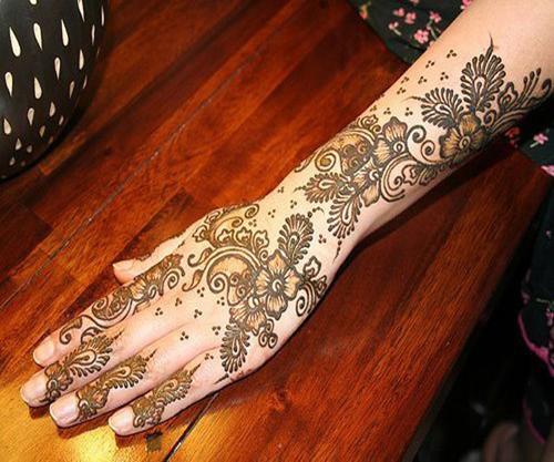 Shaded mehndi designs for weddings
