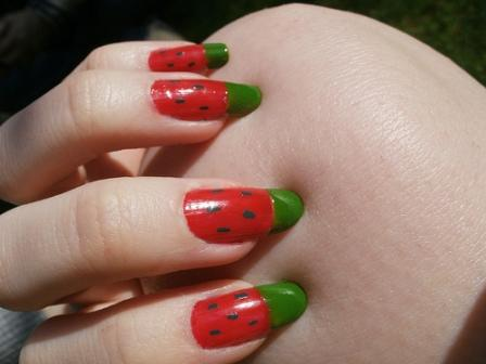 9 best watermelon nail art designs styles at life simple watermelon nail art this prinsesfo Images