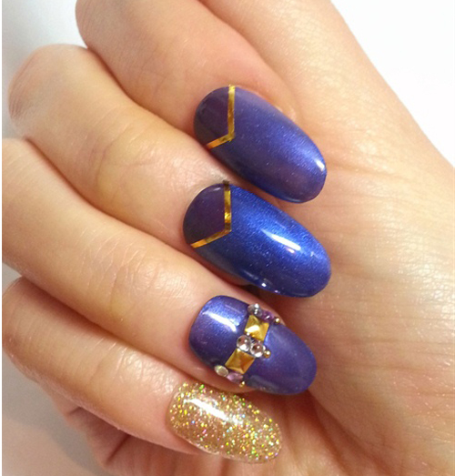 Blue Gel Nail Art Designs ~ Blue gel nail design my wallpaper