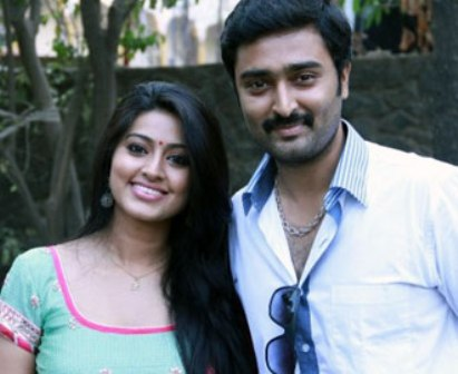 Sneha with husband Prasanna