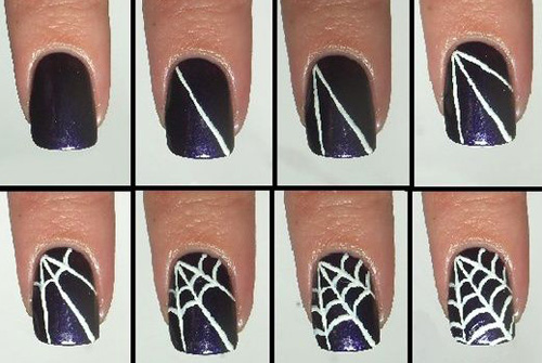 Spider Web Nail Art Designs ... - 6 Best Spider Web Nail Art Designs Styles At Life