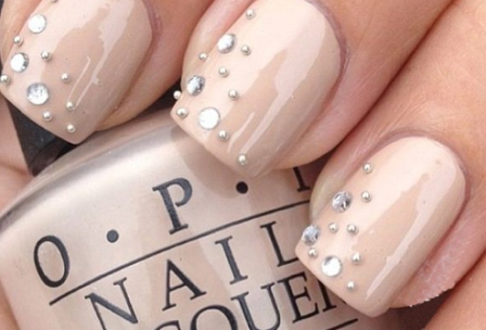 Studded Gel Nail Art Design: Use ... - 6 Amazing Gel Nail Art Designs With Pictures Styles At Life