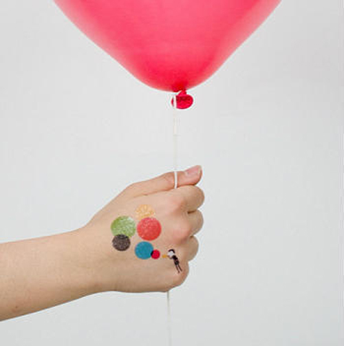 Temporary Balloon Tattoo