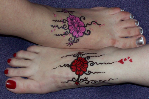 Temporary Foot Tattoo