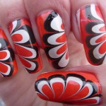 9 Pictures of Easy Water Marble Nail art Designs