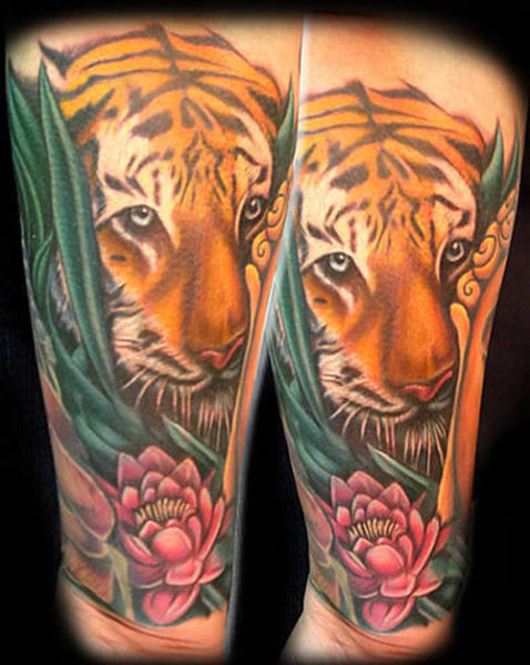 Tiger in the Jungle Tattoo
