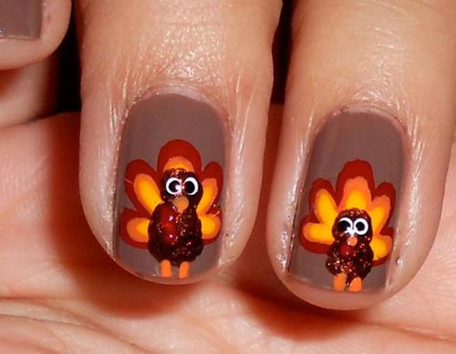 Turkey inspired Nail Art